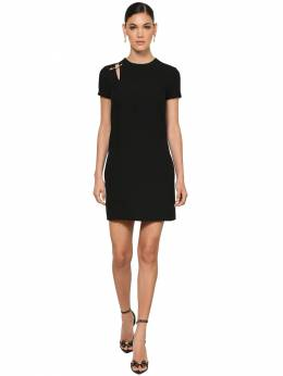 Safety Pin Crepe Cady Mini Dress Versace 71IA86011-QTEwMDg1