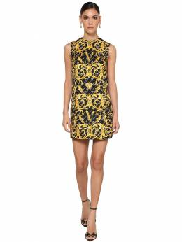 Printed Silk Twill Tunic Dress Versace 71IA86006-QTc5MDA1