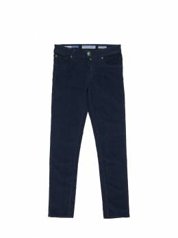 Slim Cotton Blend Corduroy Pants Jacob Cohen 70IX9V019-ODcw0