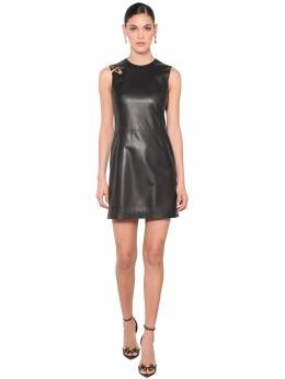 Safety Pin Nappa Leather Mini Dress Versace 71IA86097-QTEwMDg1
