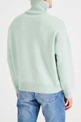 Зеленый свитер из шерсти Ami 1376166694