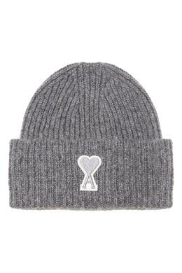 Серая шапка с отворотом Ami 1376166692