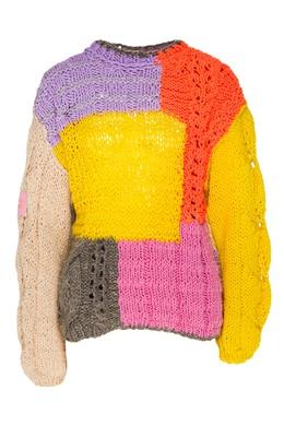 Джемпер в дизайне цветовыми блоками Natasha Zinko 1529166378