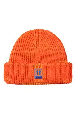 Оранжевая с синим шапка бини Off-White 2202166894