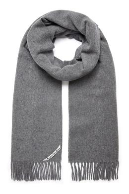 Серый шарф с бахромой Acne Studios 876167392