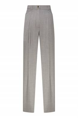 Широкие серые брюки с защипами Natasha Zinko 1529166370