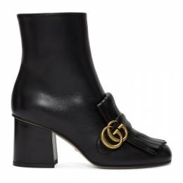 Gucci Black Double G Ankle Boots 201451F11313806GB