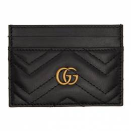 Gucci Black Quilted GG Marmont Card Case 201451F03707901GB