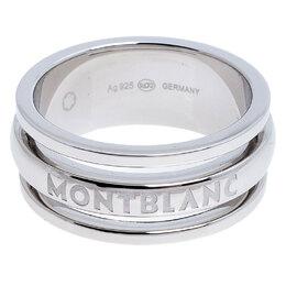 Montblanc Three Ring Motif Silver Men's Band Ring Size 68 247758