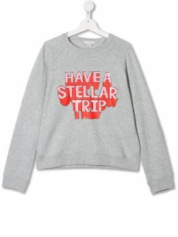Stella McCartney Kids свитер с надписью 566316SNJ66T