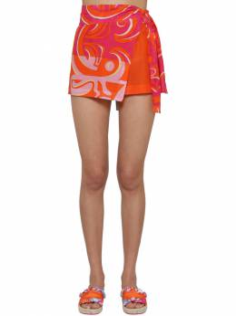 Printed Chiffon Wrap Shorts Emilio Pucci 71IM5T014-MDg10
