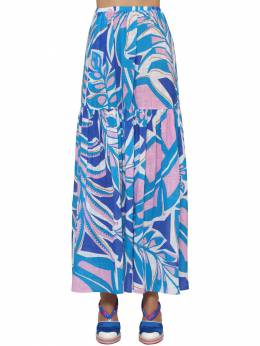 Rustic Printed Cotton Skirt Emilio Pucci 71IM5T007-MDYw0