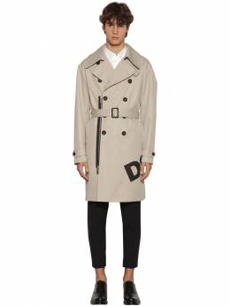 Printed Cotton Twill Trench Coat Dsquared2 71IG7E119-MTE00