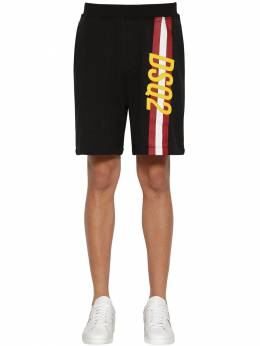 Printed Cotton Jersey Shorts Dsquared2 71IG7E114-OTAw0