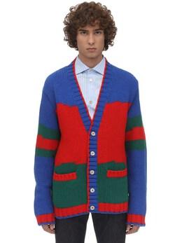 Knit Cardigan W Web Gucci 71IH0K045-NjA1MQ2