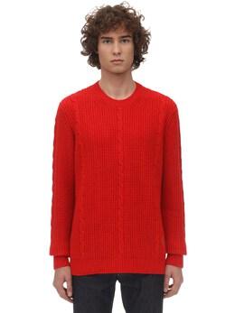 Intarsia Logo Wool Knit Sweater Gucci 71IH0K032-NjUwOQ2