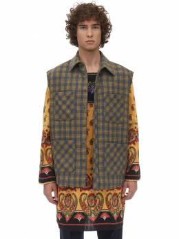 Micro Check Wool Blend Jacket Gucci 71IH0K017-NDAwOQ2