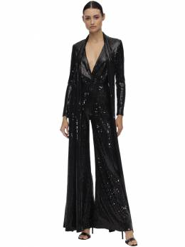 Long Sequined Jumpsuit W/ Scarf Elie Saab 70IB4T016-QkxBQ0s1