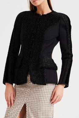 Черная куртка с фактурными вставками Alexander Wang 367167082