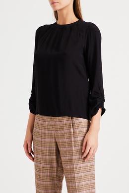 Черная блуза из шелковой ткани No. 21 35167244