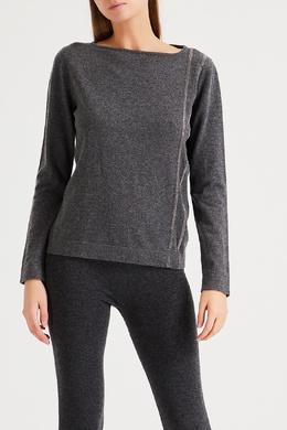 Дымчато-серый свитер с отделкой Fabiana Filippi 2658167200