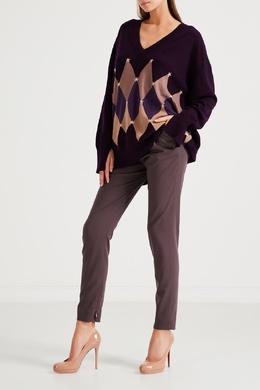 Серые брюки с кулиской на поясе Fabiana Filippi 2658167231