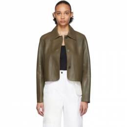 Loewe Khaki Leather Button Jacket 201677F06313902GB