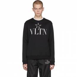 Valentino Black VLTN Star Jersey Sweatshirt 201476M20407602GB