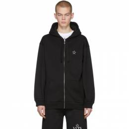 Valentino Black VLTN Star Zip-Up Hoodie 201476M20202702GB