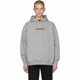 Vetements Grey Postage Hoodie 201669M20200703GB
