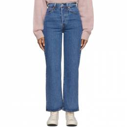 Levi's Blue Ribcage Straight Ankle Jeans 192099F06903702GB