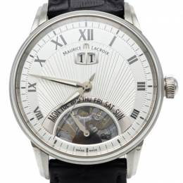 Maurice Lacroix Silver Jours Retrograde Steel Automatic Men's Watch 40MM 249517