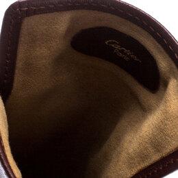 Cartier Burgundy Leather Sunglasses Case