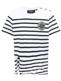 Puma футболка с прорезями из коллаборации с Balmain 59688302