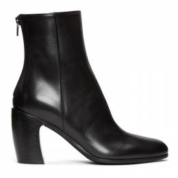 Ann Demeulemeester Black Curved Heel Boots 201378F11301303GB