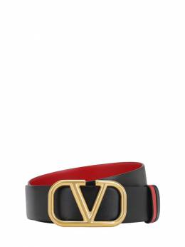 "Двухсторонний Кожаный Ремень ""go Logo"" 40мм Valentino 71IW94065-MFNN0"