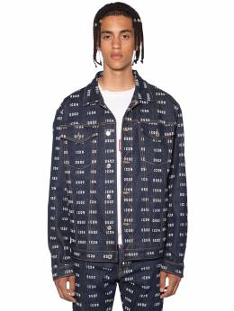 Print Icon Logo Stretch Denim Jacket Dsquared2 71IS3C019-NDcw0