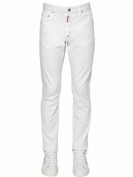 16.5cm Cool Guy Stretch Cotton Jeans Dsquared2 71IS3C016-MTAw0