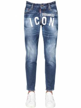 15cm Print Icon Skinny Dan Denim Jeans Dsquared2 71IS3C015-NDcw0