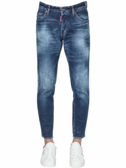 15cm Skinny Dan Cotton Denim Jeans Dsquared2 71IS3C014-NDcw0