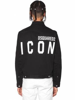 Print Icon Logo Stretch Dan Denim Jacket Dsquared2 71IS3C009-OTAw0