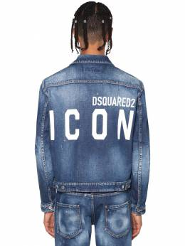 Print Icon Logo Stretch Dan Denim Jacket Dsquared2 71IS3C008-NDcw0