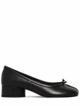 """Кожаные Туфли """"tabi"""" 35мм Maison Margiela 71IM85018-VDgwMTM1"""
