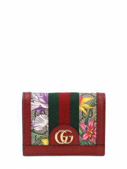 Flora Gg Supreme Compact Wallet Gucci 71IIJS057-ODcyMg2