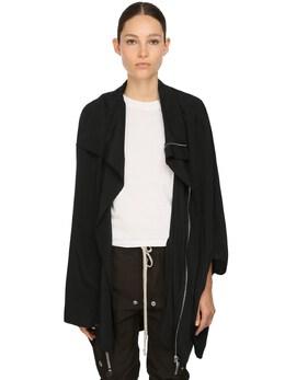 Zip Up Silk Blend Crepe Jacket Rick Owens 71IACG001-MDk1