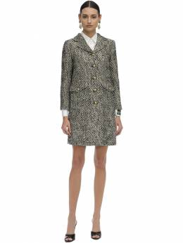 Short Flamed Tweed Quilted Coat Gucci 71I5K1022-OTIwNw2