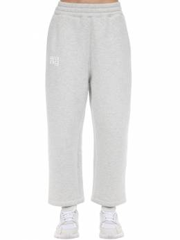Embroidered Cotton Blend Sweatpants Alexander Wang 71I5BR084-MDEy0