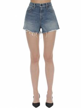 Raw Hem Cotton Denim Shorts Alexander Wang 71I5BR058-NDQz0
