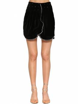 Queeny Embellished Velvet Mini Skirt Isabel Marant 71I1JT026-MDFCSw2