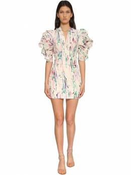 Farah Printed Crepe De Chine Mini Dress Isabel Marant 71I1JT014-MjNFQw2